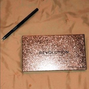 revolution palette and brown gel eyeliner stick
